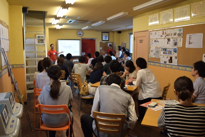 150702早稲田大学商学部教授・鵜飼信一ゼミ工場視察